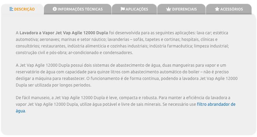 Detalhe completo dos produtos 2   Jet Vap - Lavadoras a Vapor
