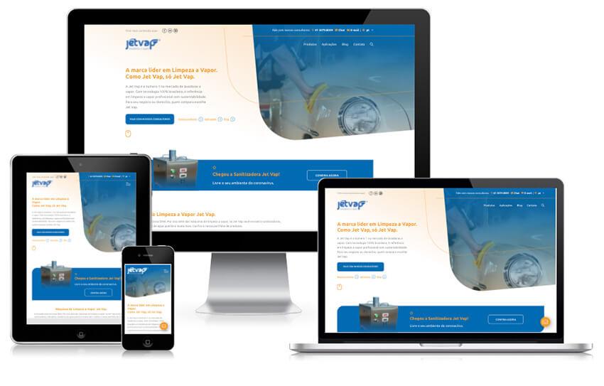 Design responsivo novo site   Jet Vap - Lavadoras a Vapor