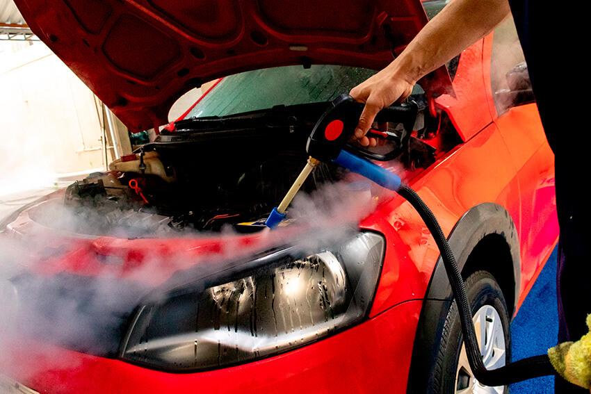 Crie um roteiro tanto para a limpeza interna quanto para a limpeza externa dos veículos.   Jet Vap